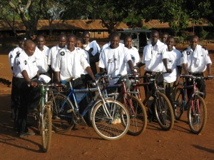 Our Kenyan Kids provided bicycles