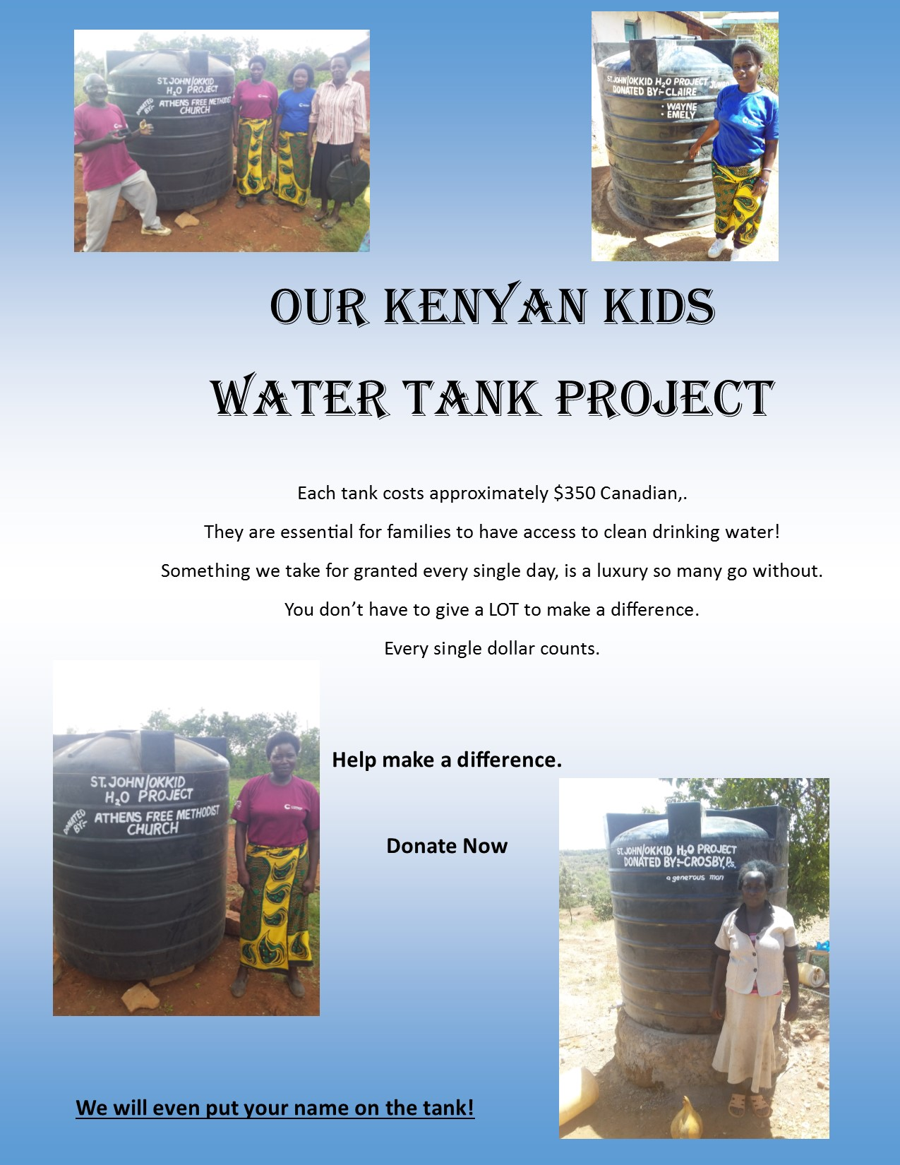 watertank project poster